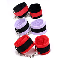 Wrist & Ankle Cuffs adult cloth - Quality Warm handcuffs Plush colors anklecuffs Soft Cloth bdsm fetish sm toys Restrains adult sm games sex toys for couples