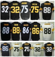 achat en gros de joe jaune-Remorquage de gros # 88 Lynn Swann Jersey cousu # 86 Hines Ward Black Yellow # 75 Joe Greene Cheap # 32 Franco Harris Jersey Expédition gratuite