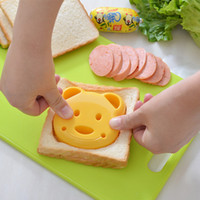 Plastic ball biscuit - New Arrival Bear Sandwich Mold Cutter Bread Biscuits Embossed Device Rice Balls Rice Lunch Embossing Device Mold Must Have