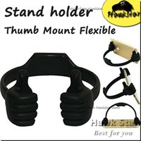 Wholesale Universal Mount Flexible Thumb Smartphone Stand Holder For Phone Tablet Bed Desk Stand For Iphone Samsung LG
