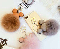 Wholesale DIY mobile phone accessories tide shell material creative hair ball keychain cute new handbag backpack pendant