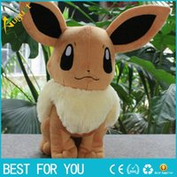 Wholesale 32cm Poke Plush toys Pikachu dolls Jolteon Umbreon Flareon Eevee Espeon Vaporeon Kids Christmas gifts