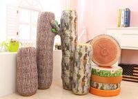 Wholesale Shipping wood chopping pillow imitation tree stump neck pillow plush toys fruit cushion birthday girl cm