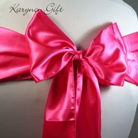 Wholesale pieces x270cm Wedding satin ribbon Chair Cover Sashes Bow Sash Party Banquet Decoration