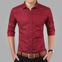 big collar shirts for men - 2017 New Spring Men Shirts Casual Slim Fit Long Sleeve Shirt For Male designer Print Camisa Brand Dress Shirt Big Size M XL CA3
