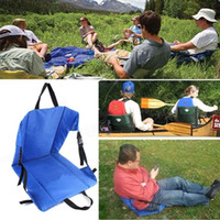 Wholesale Outdoor Light Weight Portable Folding Chair Cushion Beach Grass Camping Hiking Fishing picnic