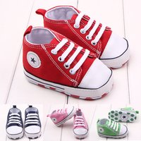 baby branded sport shoes - Brand New Canvas Infant Toddler First Walkers Lace Up Sport Baby Shoes For Spring Autumn M YH