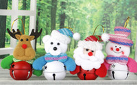 Wholesale Christmas snowman doll pendant Christmas tree decoration accessories Christmas supplies Christmas bell hanging ornaments pendant bag pendant