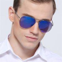 aviator cases - Aviator Sunglasses for Men Women Mirrored Oval Lens Alloy Frame New Summer Designer Sun Glasses With Logo And Case