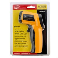 Wholesale Retail Package GM300 Non Contact LCD display IR Infrared Digital Temperature Gun Thermometer C Emissivity DY