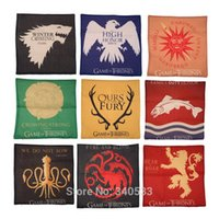 Woven case linens - Game of Thrones House Sigils Family Crest Throw Pillows Case Linen Cotton for home Covers cm cm