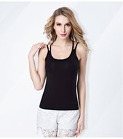 Women Camis purity Women Tank Crop Tops Casual Style Bustier Camis Strap Cross Halter Summer Sexy Short Tees Female Tank Top Soild Modal Vest Camis