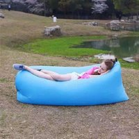 Wholesale Outdoor Inflatable Air Sleeping Bag Hangout Lounger Air Boat Air Lazy Sofa Camping Sleeping Bed Fast Inflatable WA2154