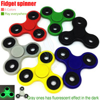 Wholesale Top EDC Hand Spinner Fidget Toys decompression anxiety Killing Time Acrylic Plastic axis balance Toy fluorescence effort HandSpinner DHL