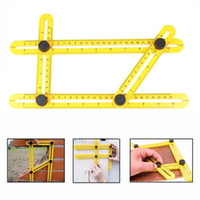 angle measure tool - Multi Angle Ruler Template Tool Measures All Angles and Forms Plastic Foldable Ruler for Handymen Builders Craftsmen Factory Price