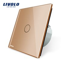 Intelligent Light Switch: Cheap Intelligent Switch Livolo New Type Touch Switch, Golden Color,  220~250V Touch Screen Wall Light Switch,VL-C701-13,Lighting