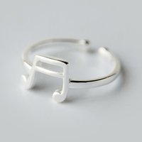 band music notes - 5pcs New Design Sterling Silver Music Sign Note Rings for Women Girls Christmas Gift Statement Jewelry Adjustable Size Ring