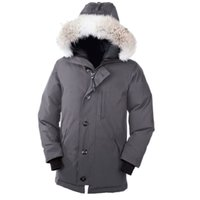 arctic fur - Canadian Brand Mens Chateau Parka Winter Thick Goose Down Warm Long Outdoor Windproof Coyote Fur Collar Hooded Arctic Expedition Outwears