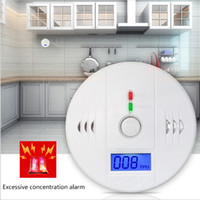 Wholesale CO Carbon Monoxide Tester Alarm Warning Sensor Detector Gas Fire Poisoning Detectors LCD Display Home Safety Alarms