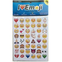 PVC People Bedroom Varied Cute Emoji Expression Bumper Stickers for Phone Smiling Face Removable Sticker For Notebook Laptop Mobile Phone Creative Gifts 11tk