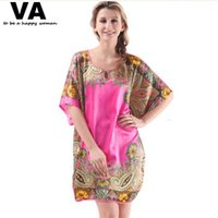 sexy nighty wear - VA Big Large Plus Size Silk Robe Nightgowns Womens Gowns Stain Sleepwear Nighty Chemise Wear Home Clothing Costume Dress L001