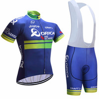 Wholesale 2017 Team Orica Greenedge Cycling Jerseys D Pad Bike Shorts Breathable Greenedge MTB Ropa Ciclismo Bicycling Maillot Culotte Suit