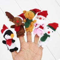Wholesale Lovely Christmas finger Puppets Animal Finger Toys Felt Boards Baby Hand Puppet Toy Finger Puppets Retail