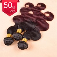 best selling wines - Best Selling Brazilian Ombre Color b Wine Red Body Wave Bundles Hair Weft Weave With Piece Inch Lace Closure