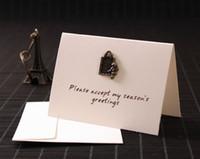 Wholesale Metal Retro Card Festival Holiday Message Blessing Card New Year Christmas Card Custom Wedding Wedding Card
