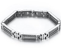 Wholesale New Arrival Magnetic Hearth Bracelet Titanium Steel Fashion Wire Hand Chain For Mens and Women China