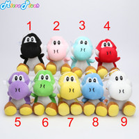 Wholesale Super Mario Bros New inch yoshi Plush Doll Figure Toy color yoshi green black red soft stuffed doll toys