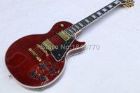 Wholesale 2016 custom shop wine red ebony fretboard les electric guitar High quality binding Paul guitar AAA mahogany LP guitar