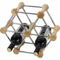 al por mayor exhibición diy-Bricolaje Transformable Vino Permanente Stand Rack Holder Mount Almacenar Botellas Countertop Madera De Acero Inoxidable Barra De Cocina Display