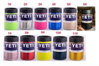 Wholesale 12OZ YETI COLORS CUPS Double Wall Bilayer Vacuum Insulated Cup Mugs Bottle Lid Stainless Steel color Coolers Cups for travel water coffee