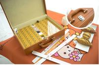 Wholesale Lovely bear mahjong hand rub mahjong tiles of large gifts Chinese cartoon family crystal mahjong puzzle fun and leisure