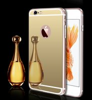 Wholesale For Iphone Luxury Fashion Ultra Thin Electroplated Soft TPU Mirror Case Cover For Iphone S Plus S S Samsung S7 Edge S7 S6 Edge S6