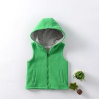 Wholesale 2016 fashion boy or girlKorean version of Pure Cotton Hooded sleeveless vest