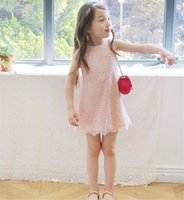 Knee-Length autumn berries - Everweekend Kids Girls Love Lace Valentine Holiday Party Dress Spring Summer Pink and White Amber Berry Dress
