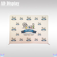 Wholesale 10ft ft Trade Show Straight High Quality Tension Fabric Banner Display Portable Exhibit Aluminum Stand With Stretchable Graphic Printing