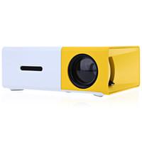 Wholesale wholesaleDHL YG300 YG310 portable mini LCD Projector Lumens x Pixels mm Audio HDMI USB SD Inputs Media Proyector Beamer
