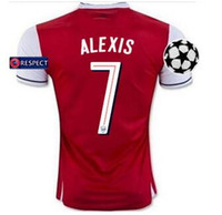 arsenal league - best quality Champions League Gunners Uniform Home OZIL WILSHERE RAMSEY ALEXIS GIROUD Welbeck Third Arsenals Jerseys With Free shipp