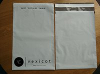Wholesale 25 cm Custom white color waterproof plastic poly courier bags for delivery with self adhesive strip