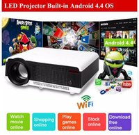 android wifi projector - Android Full HD LED Daytime LCD D Wifi Smart Projector lumens proyector Beamer LED Lamp business cinema better than LED