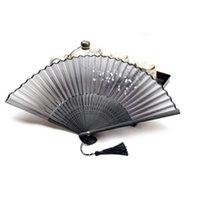 Wholesale Chinese Folding Hand Fan Home Decor Silk Bamboo Flower Butterfly Pocket Fan