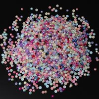 art packing materials - Promotion pack Mixed Color Bead Flatback Acrylic Half Pearl Beads Sewing Craft Scrapbooking Home Decor DIY Material