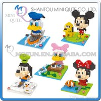 big hawk - DHL Mini Qute Wise Hawk Big Head Mickey Minnie Donald Goofy plastic building block brick model Action Figures educational toy