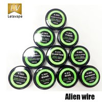 Wholesale Original Demon Killer Twisted Coil Twisted Premade Wire DIY Coil For RDA RTA Electronic Cigarette Sold by PC Heating Wire DHL Free