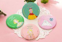 Wholesale Carton Small Iron Mirror Cute Cosmetic Mirror Original Small Gift Portable Mirror Colorful And Stylish Pattern