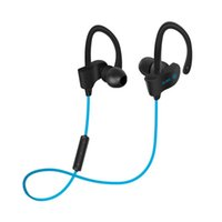 Wholesale 2016 in Stock Bluetooth Headphones V4 Wireless Stereo Bluetooth Earphones for In ear Earbuds with Mic for iOS and Android Cell phone Blue