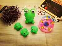 al por mayor ranas juguetes-Venta al por mayor bebé nadar pequeño kwork rana juguete clásico tortuga El juguete de tortuga